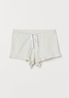 H&M H & M - Ribbed Pajama Shorts - Gray
