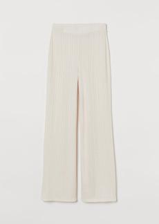 H&M H & M - Ribbed Pants - Beige
