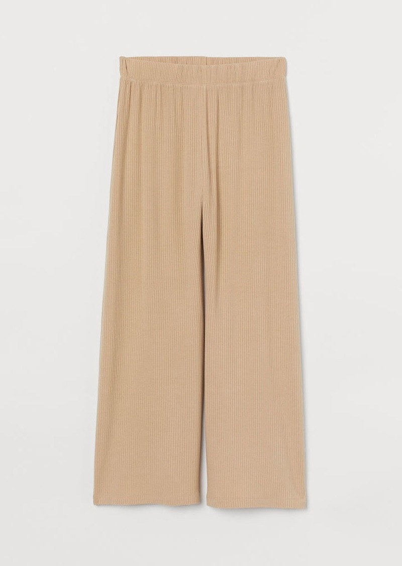 H & M - Ribbed Pants - Beige