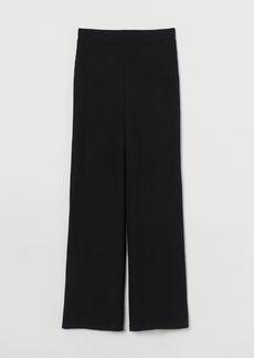 H&M H & M - Ribbed Pants - Black