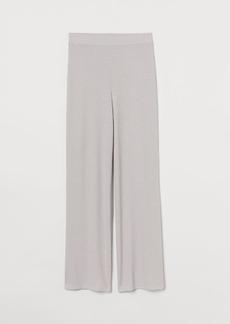 H&M H & M - Ribbed Pants - Gray