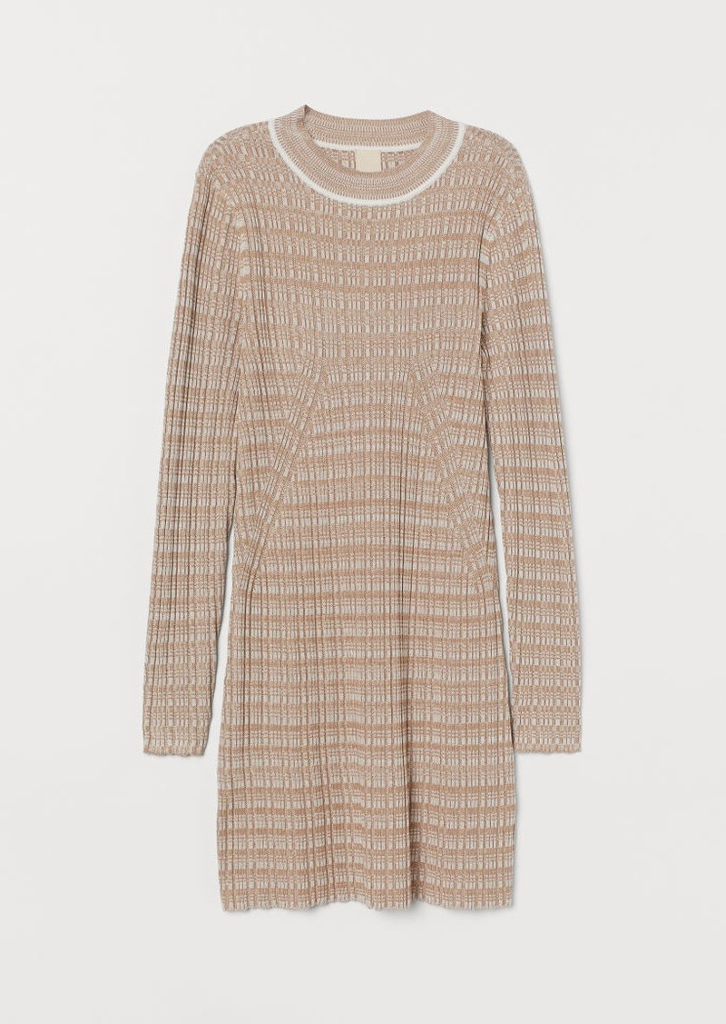 H&M H & M - Ribbed Sweater - Beige