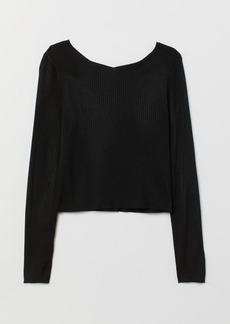 H&M H & M - Ribbed Sweater - Black