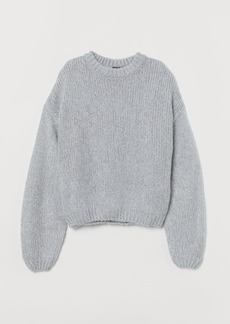 H&M H & M - Ribbed Sweater - Gray
