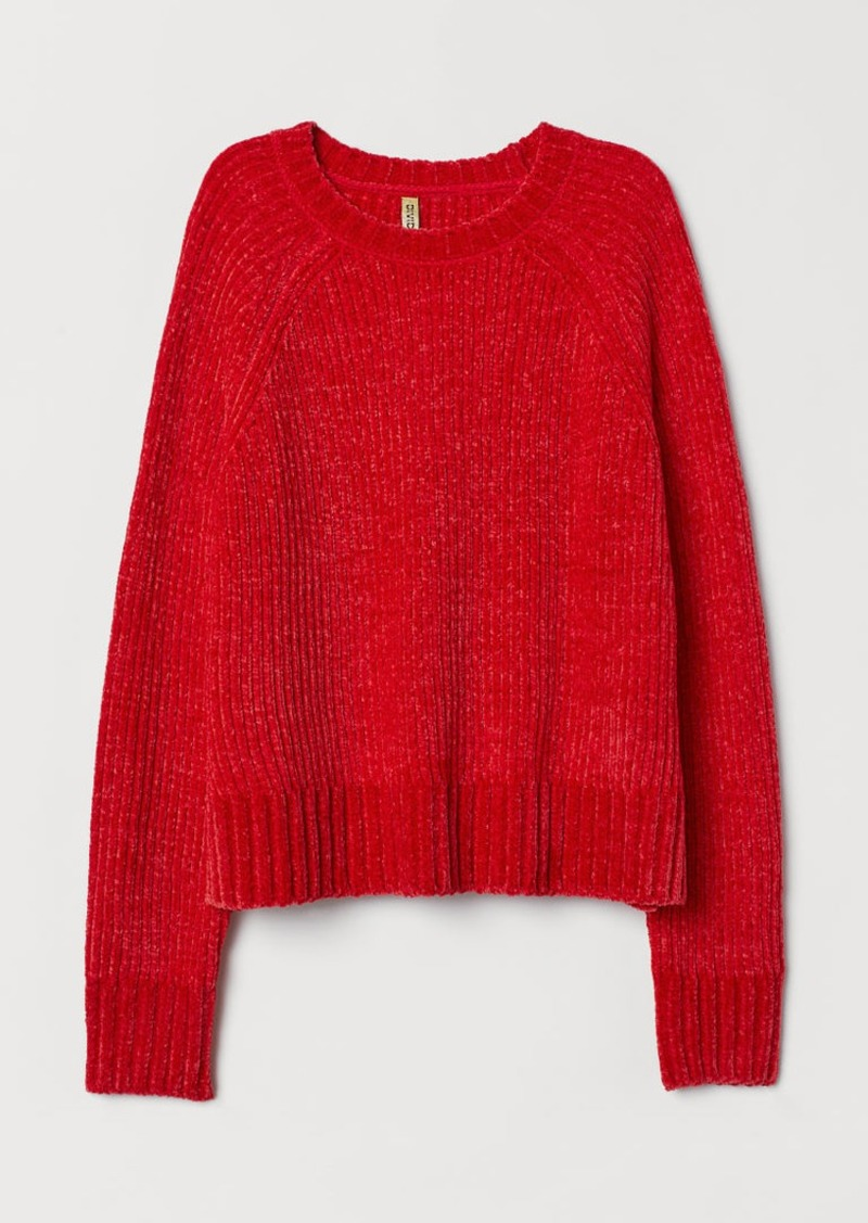 H&M H & M - Ribbed Sweater - Red