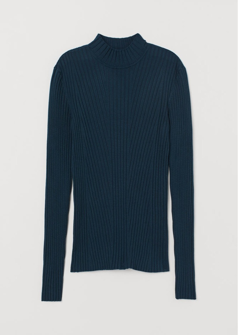 H&M H & M - Ribbed Sweater - Turquoise
