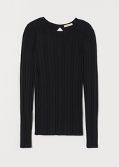H&M H & M - Ribbed Top - Black