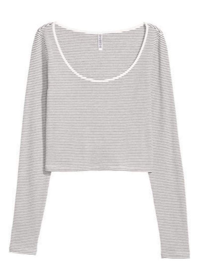 7ab0b1eb670 On Sale today! H&M H & M - Ribbed Top - White