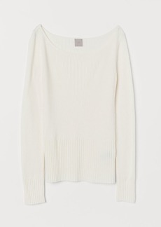 H&M H & M - Ribbed Top - White