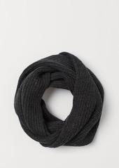 H&M H & M - Ribbed Tube Scarf - Black