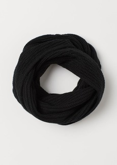 H&M H & M - Ribbed Tube Scarf - Black