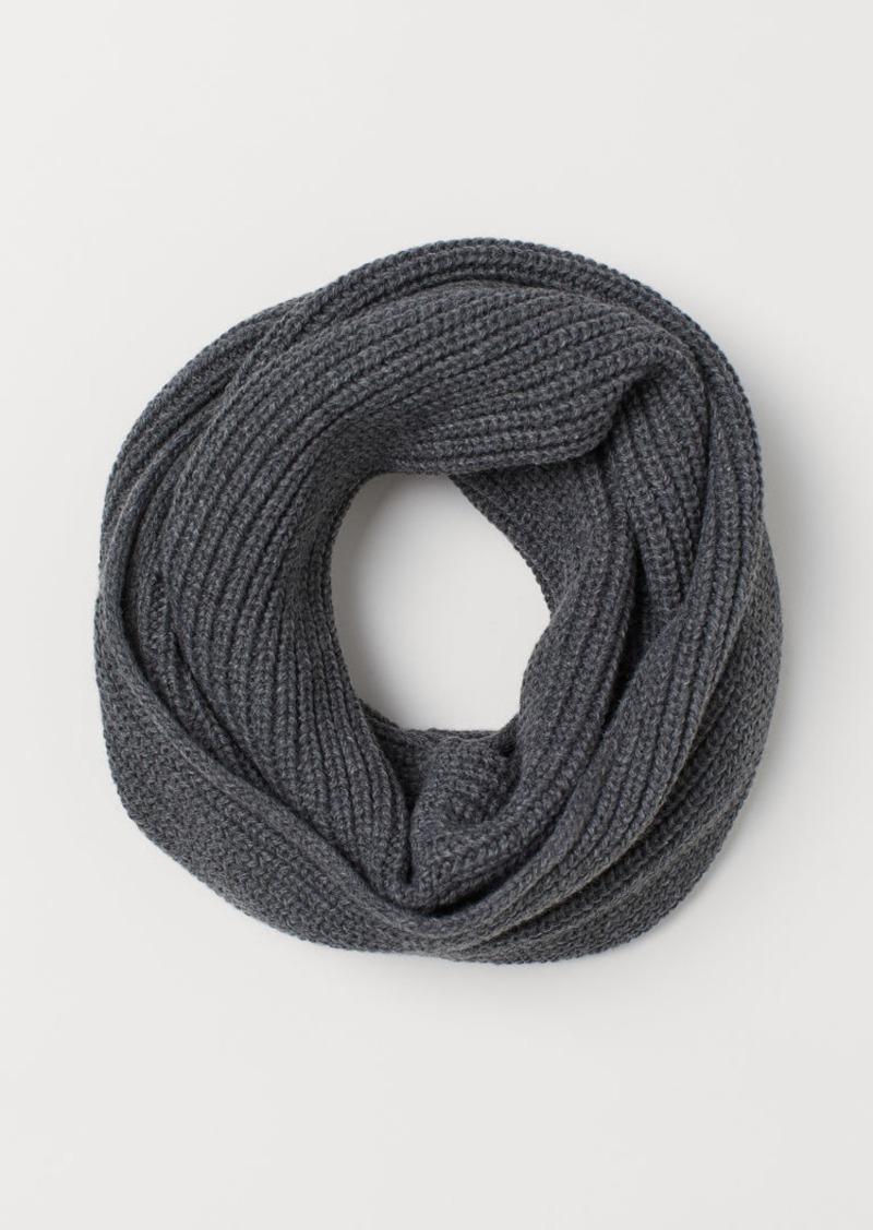 H&M H & M - Ribbed Tube Scarf - Gray