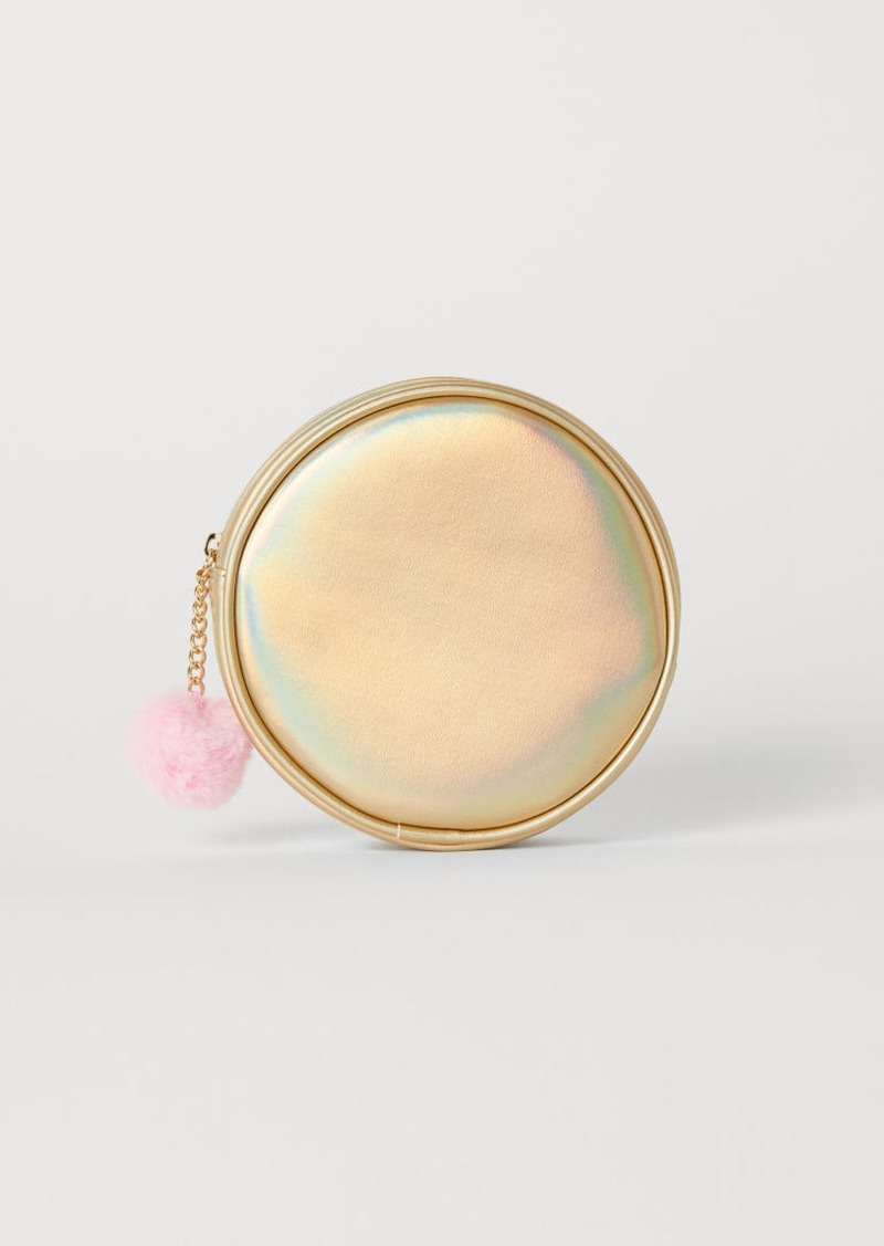 H&M H & M - Round Makeup Bag - Gold