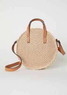H&M H & M - Round Paper Straw Handbag - Beige