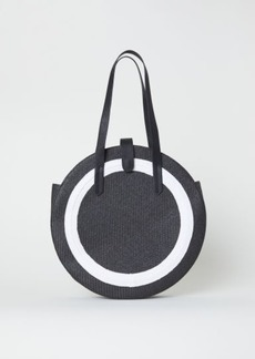 H&M H & M - Round Straw Bag - Black