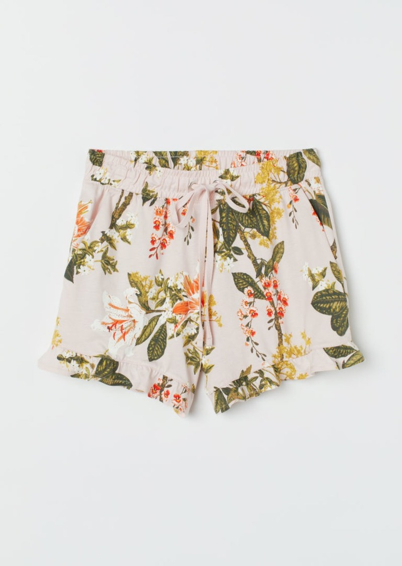 H&M H & M - Ruffle-trimmed Shorts - Pink