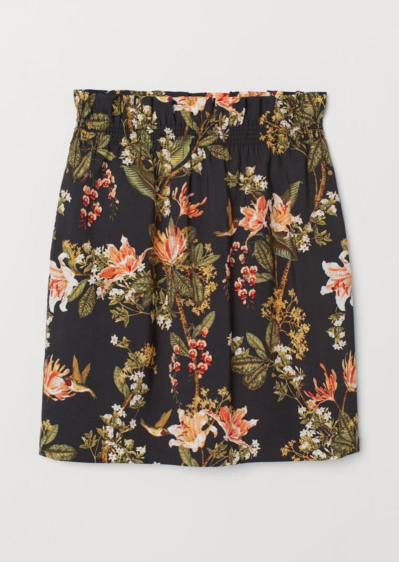 H&M H & M - Ruffle-trimmed Skirt - Gray