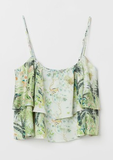 H&M H & M - Ruffled Top - White