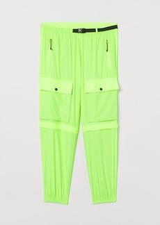 H&M H & M - Rustle-weave Cargo Pants - Yellow
