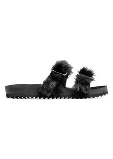 H&M H & M - Sandals with Faux Fur - Black