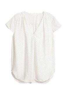 H&M H & M - Satin Blouse - White
