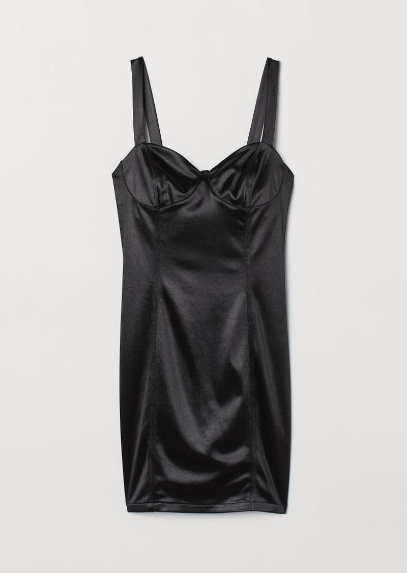 H&M H & M - Satin Dress - Black