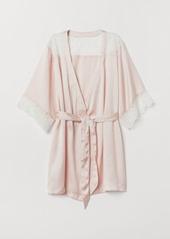 H&M H & M - Satin Kimono - Pink