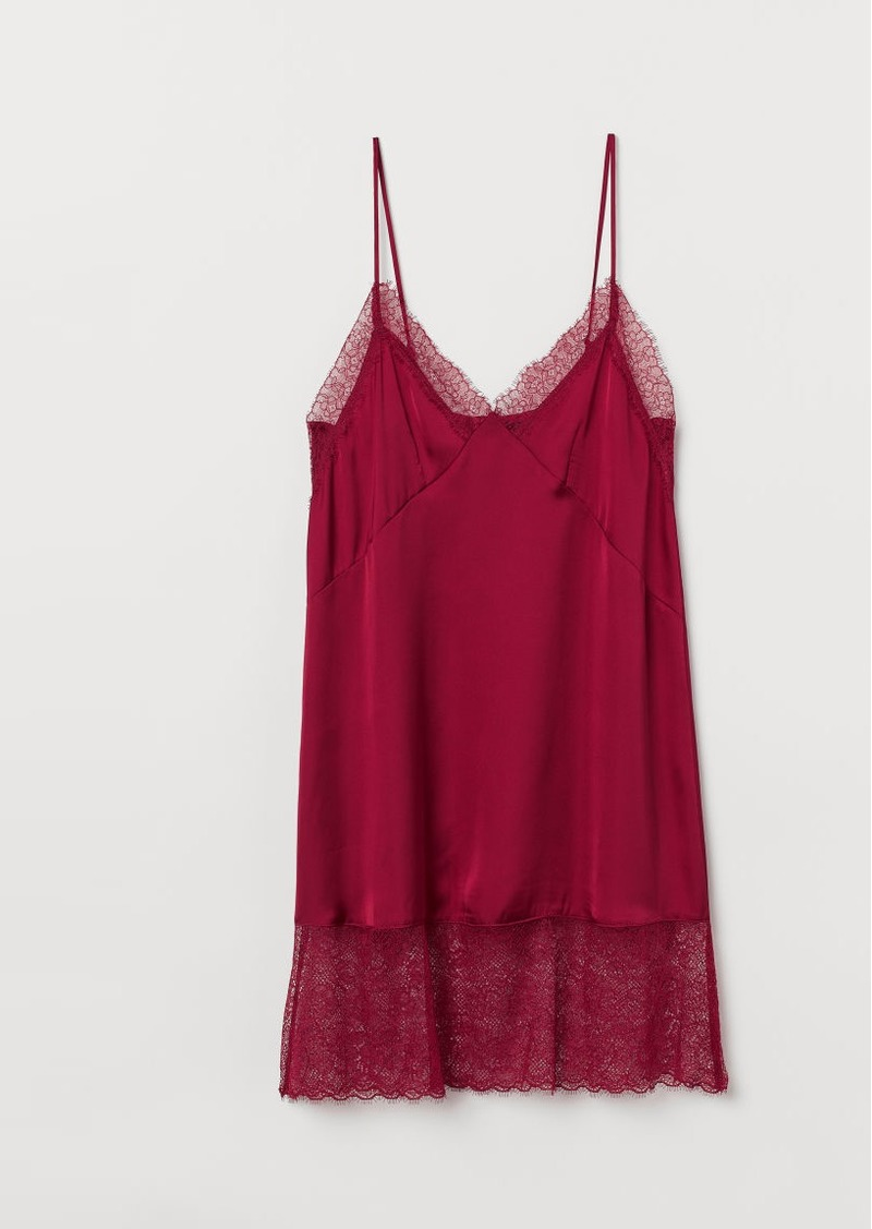 H&M H & M - Satin Nightgown - Red