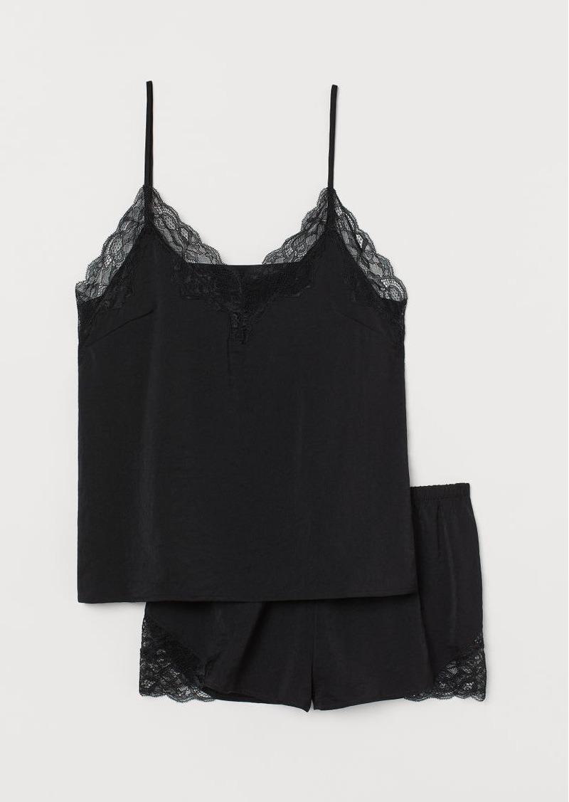 H&M H & M - Satin Pajamas - Black