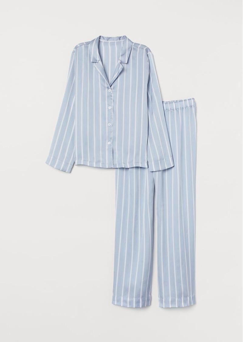 H&M H & M - Satin Pajamas - Blue