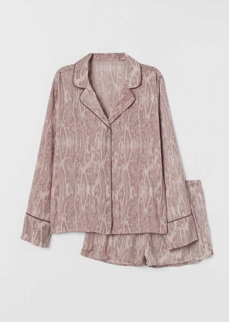 H&M H & M - Satin Pajamas - Pink