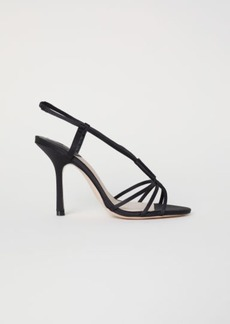 H&M H & M - Satin Sandals - Black
