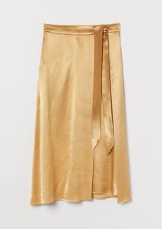 H&M H & M - Satin Skirt - Yellow