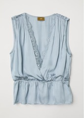 Hm h  m   satin top   blue abvca395eef a