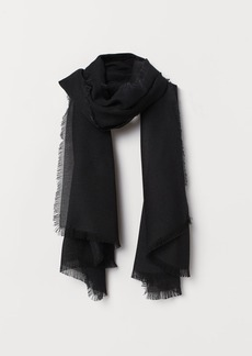 H&M H & M - Scarf with Fringe - Black