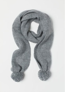 H&M H & M - Scarf with Pompoms - Gray
