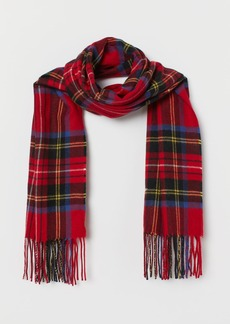 H&M H & M - Scarf with Printed design - Red