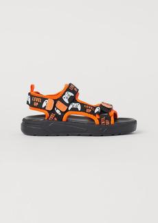 H&M H & M - Scuba-look Sandals - Black