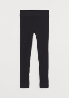 H&M H & M - Seamless Leggings - Black