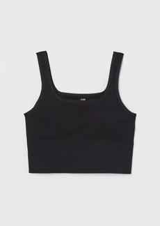 H&M H & M - Seamless Sports Bralette - Black