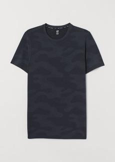 H&M H & M - Seamless Sports Shirt - Blue