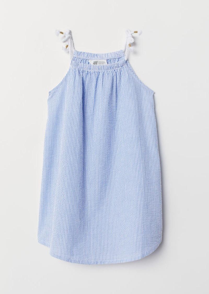 H&M H & M - Seersucker Dress - Blue