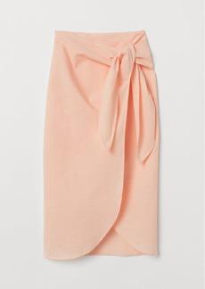 H&M H & M - Seersucker Skirt - Orange