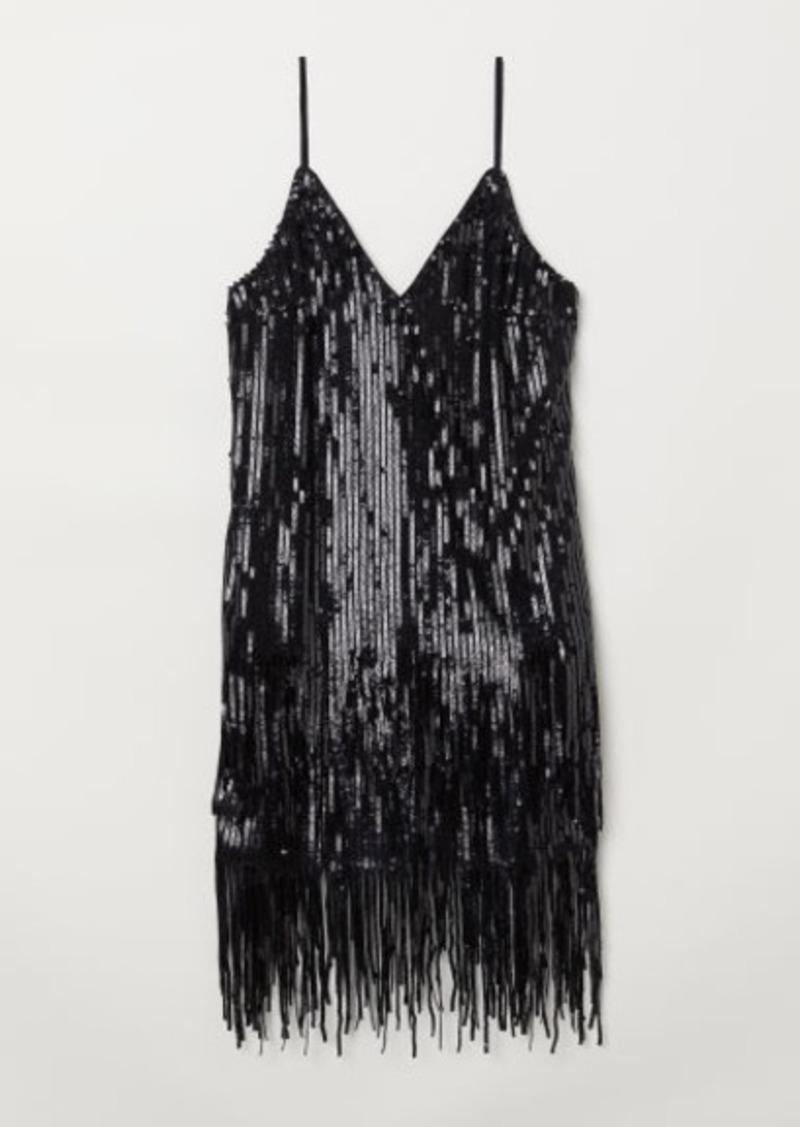 H&M H & M - Sequined Dress - Black