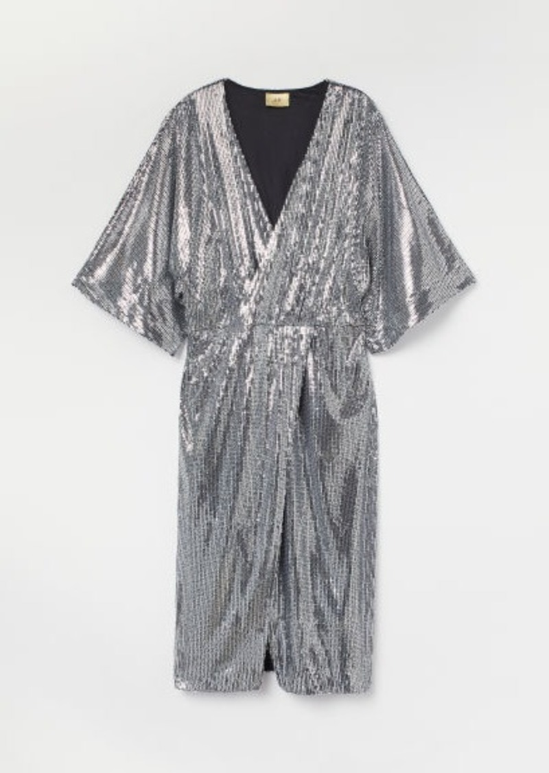 H&M H & M - Sequined Dress - Gray