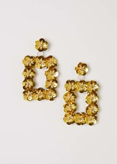 H&M H & M - Sequined Earrings - Yellow - Women