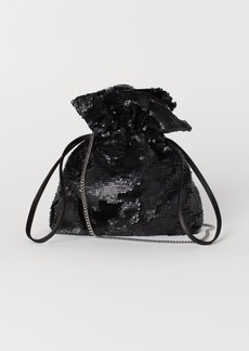 H&M H & M - Sequined Pouch Bag - Black