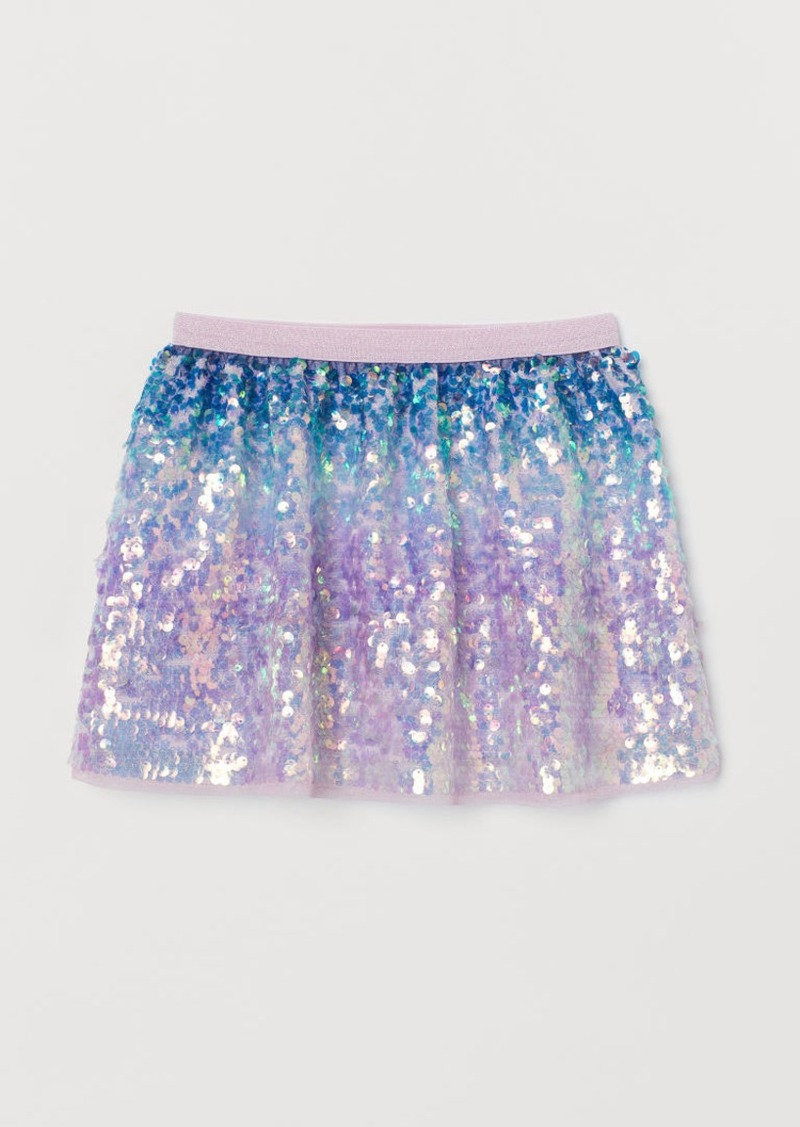 H&M H & M - Sequined Skirt - Blue