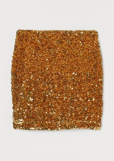 H&M H & M - Sequined Skirt - Gold