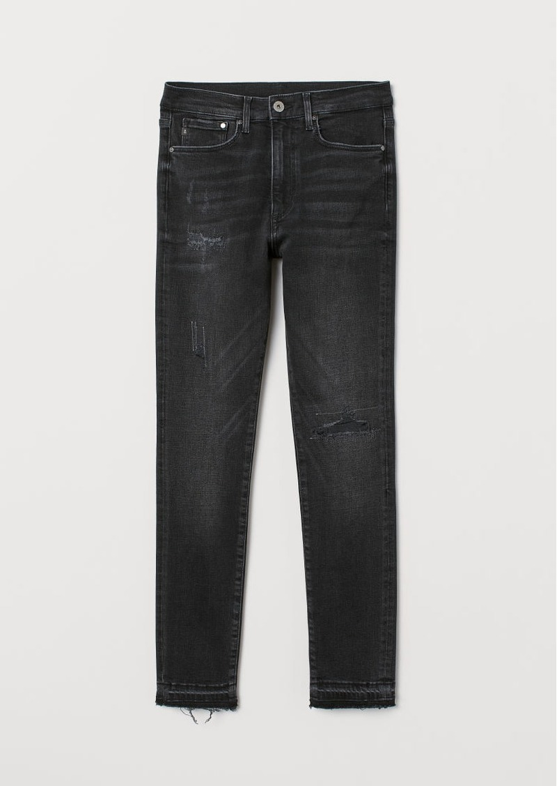 H&M H & M - Shaping High Ankle Jeans - Black